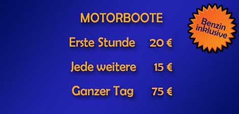 Motorbootpreise